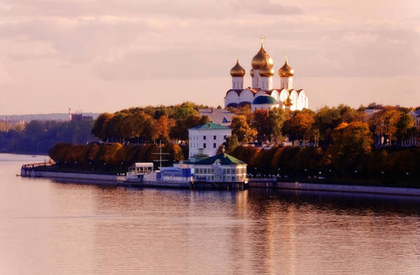 Golden Hour. Yaroslavl. Russia Art Print