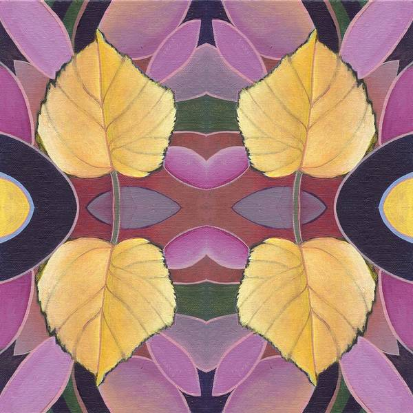 Painting - Golden I I I - The Joy Of Design X X I V Arrangement by Helena Tiainen