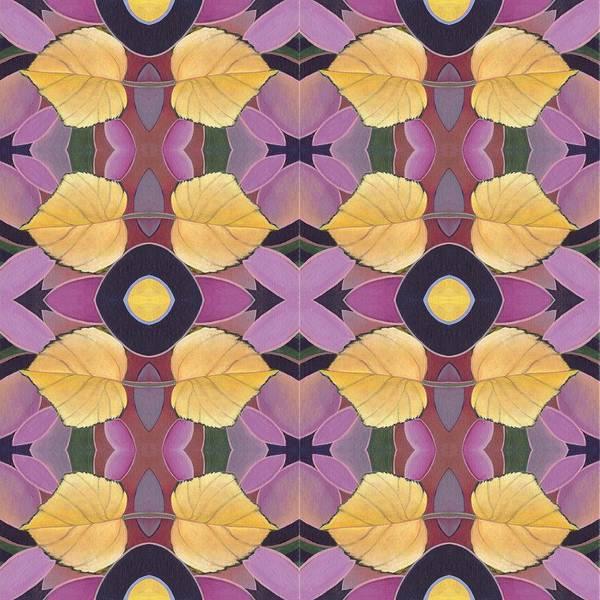 Painting - Golden I X Tile - The Joy Of Design X X I V Arrangement by Helena Tiainen