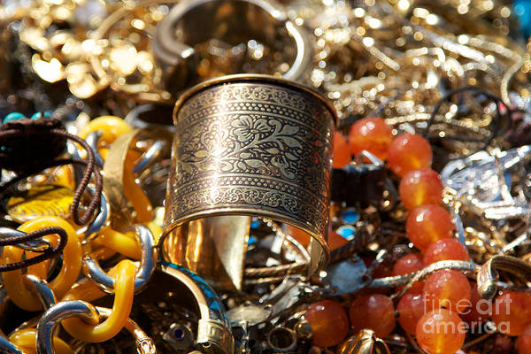 Jewelery Photograph - Golden Jewlery by Jannis Werner