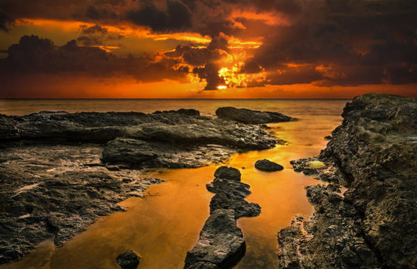 Wall Art - Photograph - Golden Kailua Beach Sunrise In Oahu by Tin Lung Chao