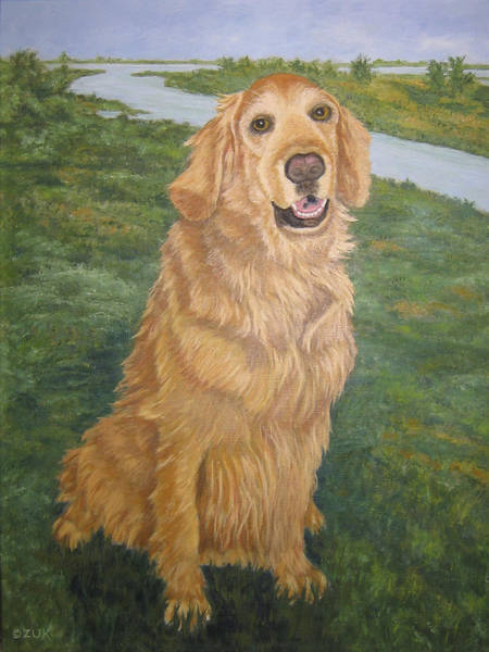 Painting - Golden Kasey by Karen Zuk Rosenblatt