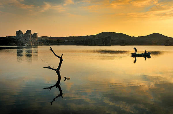 Photograph - Golden Lake - 4 by Okan YILMAZ
