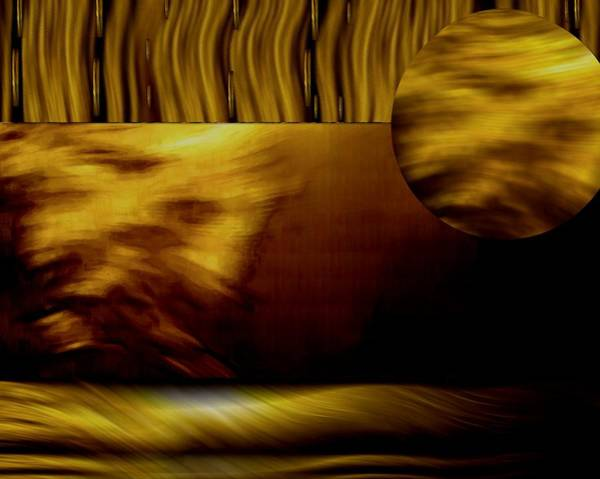 Desert Landscape Mixed Media - Golden Landscape by Pepita Selles