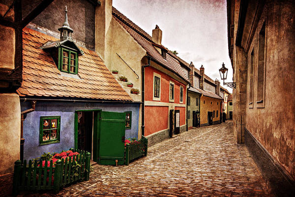 Photograph - Golden Lane At Prague Castle by Barry O Carroll