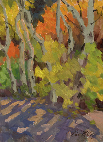 Sierra Nevada Painting - Golden Light And Shadow by Diane McClary