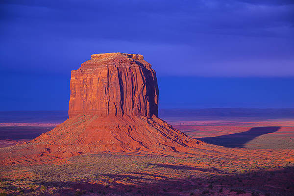 Navajo Indian Reservation Photograph - Golden Light Monument Valley by Garry Gay