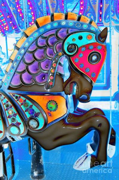 Carousel Digital Art - Golden Mane Carousel Horse by Patty Vicknair