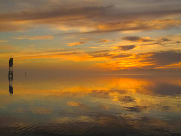 Photograph - Golden Marble Sky by Suzy Piatt