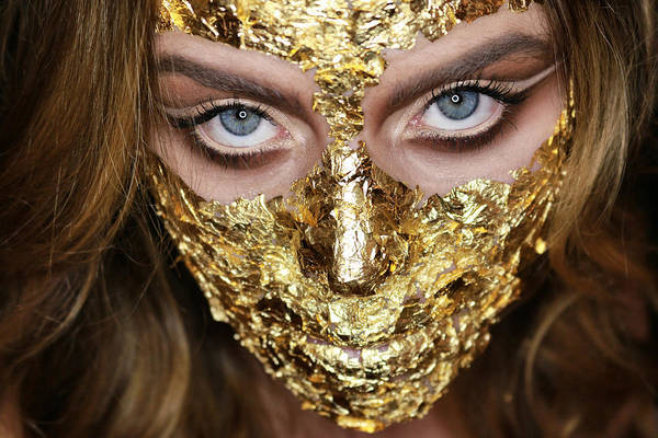 Wall Art - Photograph - Golden Mask by Ran Yehezkel