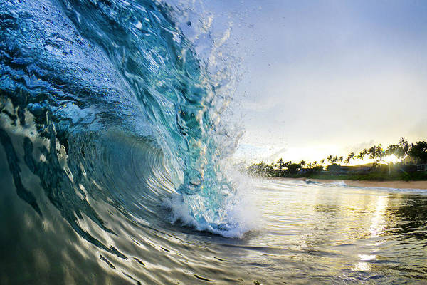 Waves Photograph - Golden Mile by Sean Davey