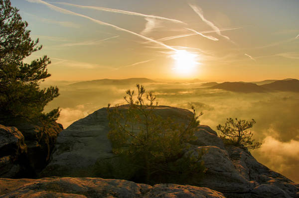 Photograph - Golden Morning On The Lilienstein by Sun Travels