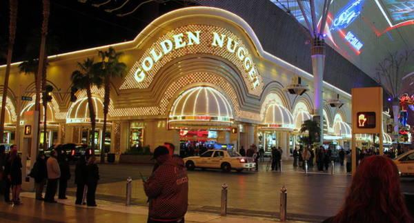 Downtown Las Vegas Digital Art - Golden Nugget by Kay Novy