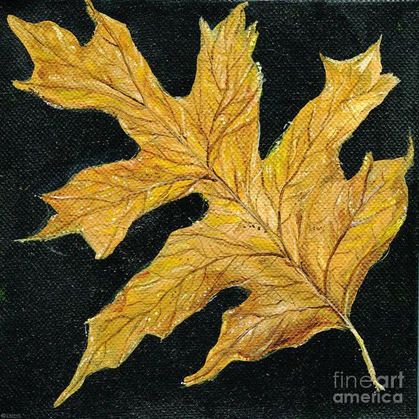 Painting - Golden Oak Leaf by Lizi Beard-Ward