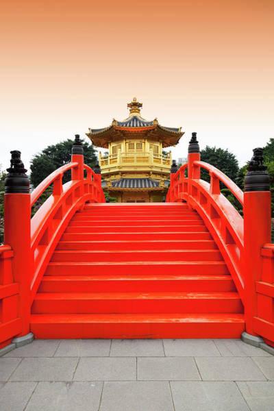 Vertical Garden Photograph - Golden Pavilion In Chinese Nunnery by Bertlmann