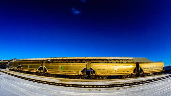 Photograph - Golden Railcars by Randy Scherkenbach