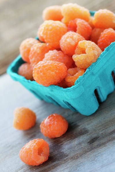 Yellow Photograph - Golden Raspberries by Nicolesy