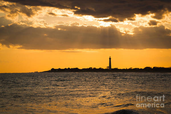 Cape May Lighthouse Photograph - Golden Rays At Cape May by Michael Ver Sprill