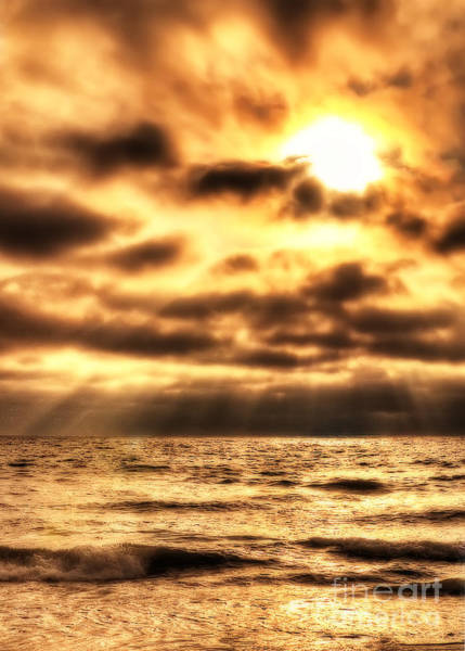 Photograph - Golden Rays On The Ocean by Eddie Yerkish
