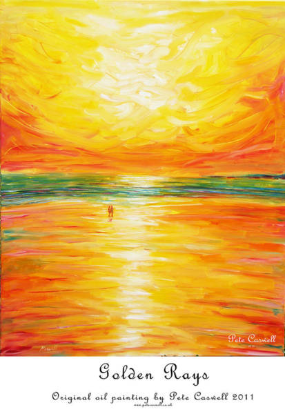 Painting - Golden Rays by Pete Caswell