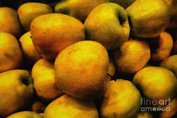 Painting - Golden Renaissance Apples by RC DeWinter