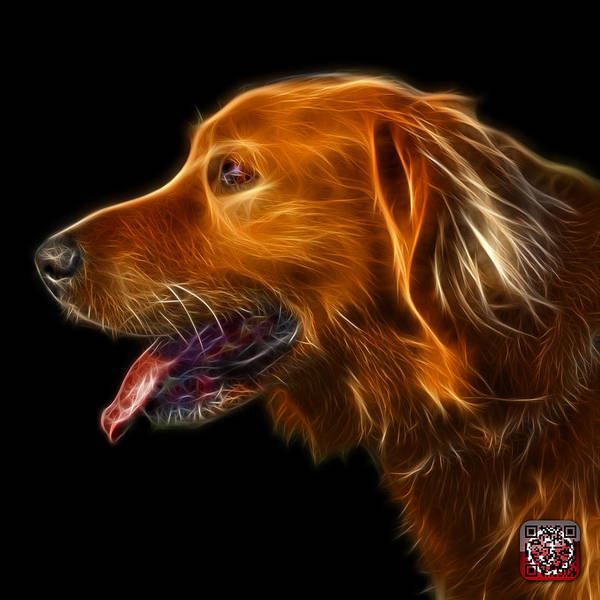 Painting - Golden Retriever - 4047 F by James Ahn