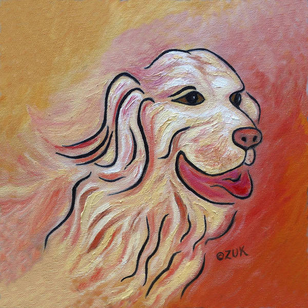 Painting - Golden Retriever by Karen Zuk Rosenblatt