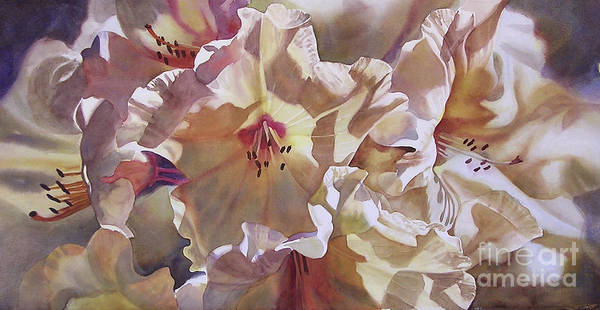 Golden Bloom Painting - Golden Rhododendronfull by Sharon Freeman