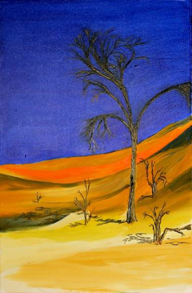 Painting - Golden Sand Dune Left Panel by Richard Jules