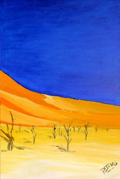 Painting - Golden Sand Dune Right Panel by Richard Jules