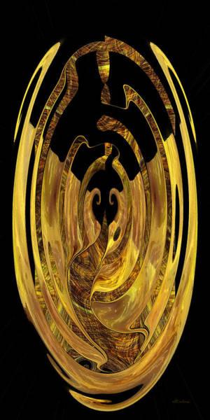 Digital Art - Golden Seal - Digital Abstract by rd Erickson
