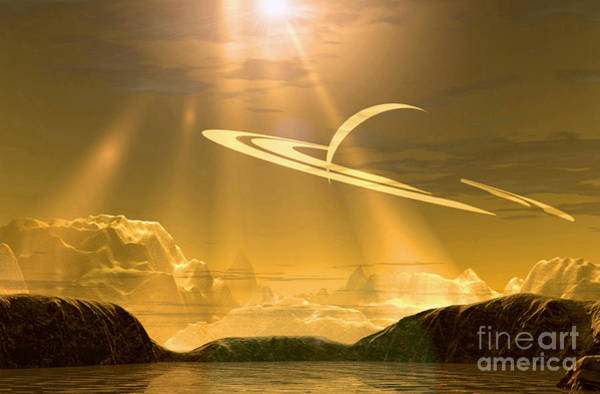 Photograph - Golden Sky On Titan by Steve A Munsinger