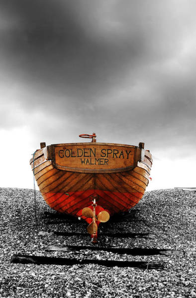 Fishing Boat Photograph - Golden Spray by Mark Rogan