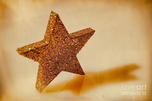 Weihnachten Photograph - Golden Star by Sabine Jacobs