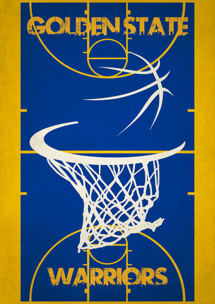 Hoop Photograph - Golden State Warriors Court by Joe Hamilton