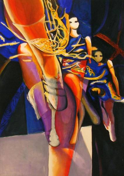 Irish Dance Painting - Golden Steps by Georg Douglas