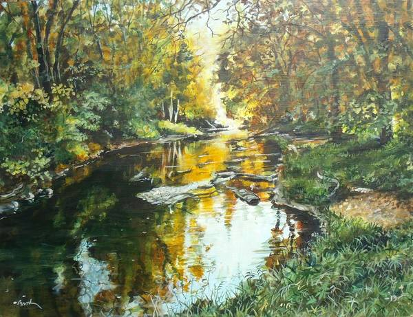 Painting - Golden Stream by William Brody