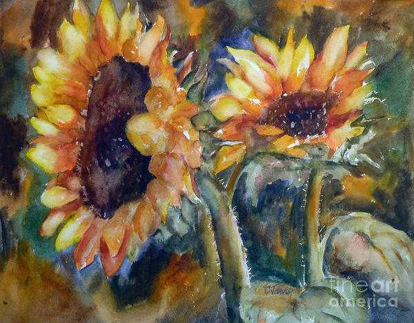 Painting - Golden Sunflowers by Carolyn Jarvis
