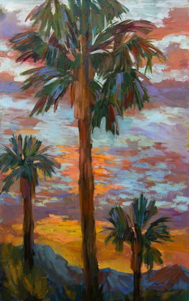 Wall Art - Painting - Golden Sunrise by Diane McClary