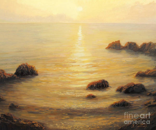 Wall Art - Painting - Golden Sunrise by Kiril Stanchev