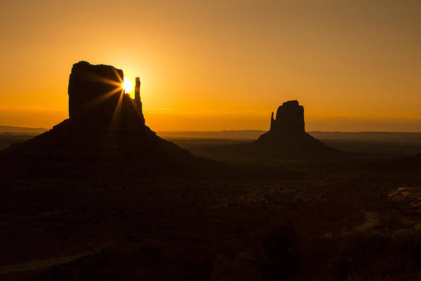 Monument Valley Navajo Tribal Park Wall Art - Photograph - Golden Sunrise Monument Valley by Garry Gay