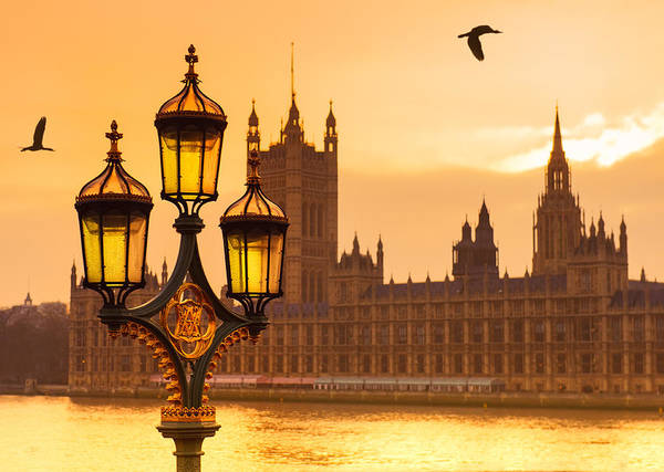 Houses Of Parliament Wall Art - Photograph - Golden Sunset by © Alexander Gutkin Goutkin@gmail.com