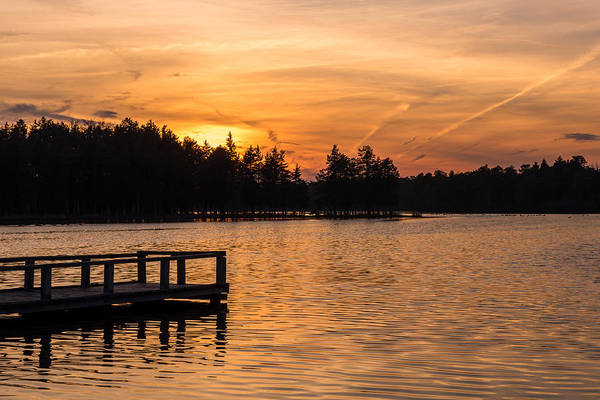 Horicon Wall Art - Photograph - Golden Sunset Lake Horicon Lakehurst Nj by Terry DeLuco