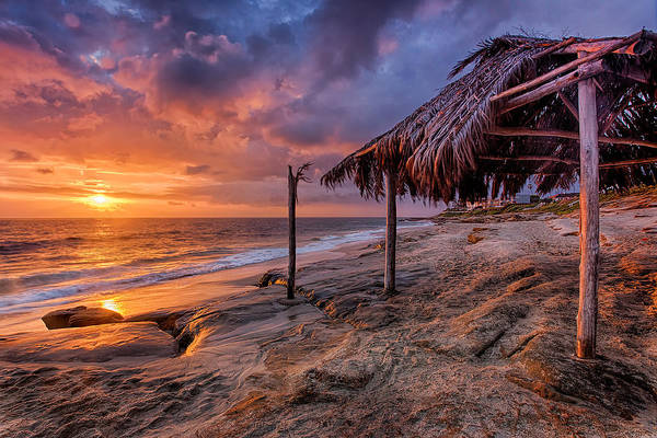 Golden Sunset The Surf Shack Art Print
