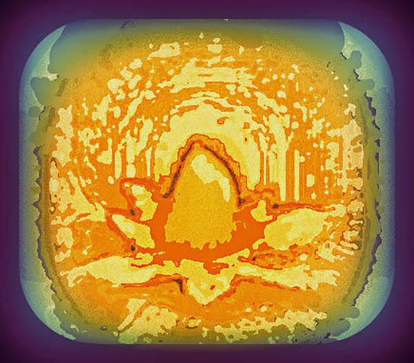 Wiese Digital Art - Golden Temple Lotus  by Wendy Wiese