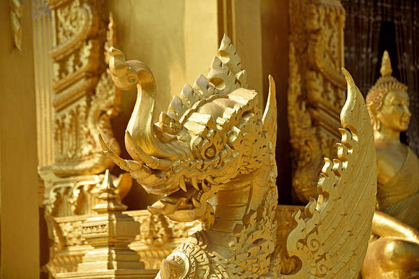 Wall Art - Photograph - Golden Temple Wat Paknam Jolo by Robert Kennett