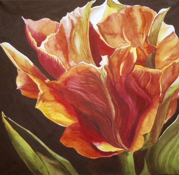 Painting - Golden Tulip by Alfred Ng