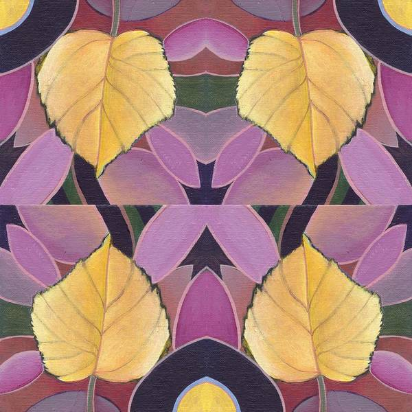 Painting - Golden V - The Joy Of Design X X I V Arrangement by Helena Tiainen