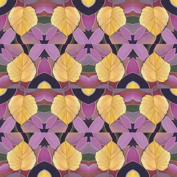 Painting - Golden V Tile - The Joy Of Design X X I V Arrangement by Helena Tiainen