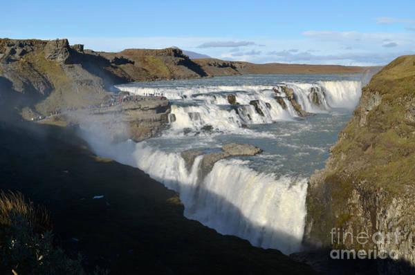 Icelandic Digital Art - Golden Waterfalls In Iceland by Eva Kaufman